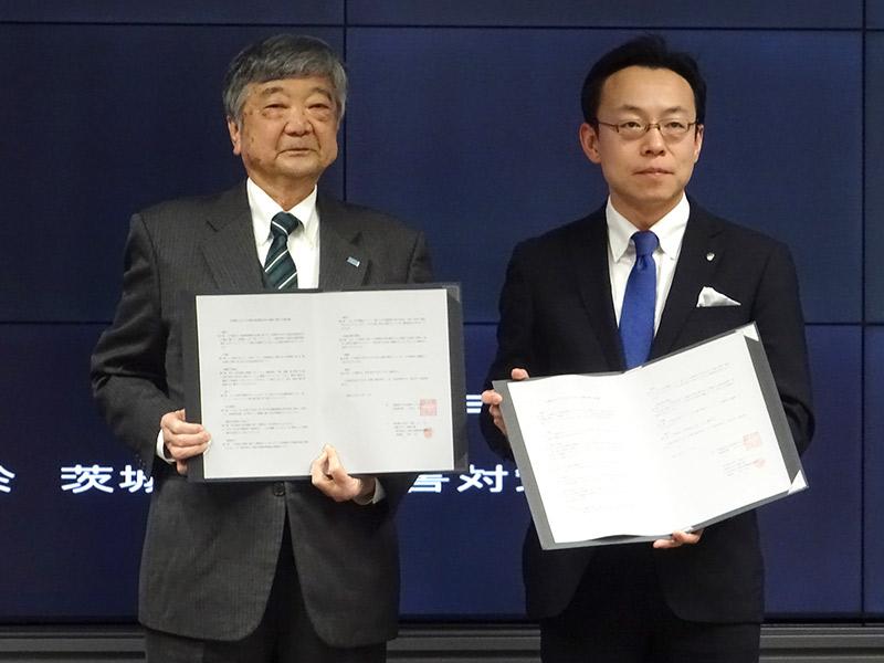 茨城県中小建築工事業協会が、12月1日に茨城県と『災害時おける木造応急仮設住宅の建設に関する協定』を締結しました。